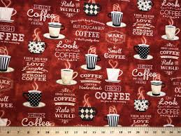 I think the strongest explanation i've heard is there are two stronger theories for how coffee came to be joe, but neither is verifiable. Coffee Shop Fabric Cup Of Joe Beverage Java Lover Kitchen Cafe Cotton Fabric Ebay