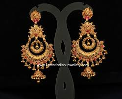 Long Heavy Earrings Design Gold Antique Heavy Chand Balis Gold Jhumka Earrings Chand