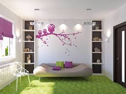 Decorating Ideas For Teenage Girls Bedroom With Corner Desk And Purple Color