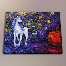 Print Home Work Hd Oil Painting Art Work Print Home Wall Decoration The Unicorn On