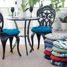 round bistro outdoor seat cushion set of 2 com