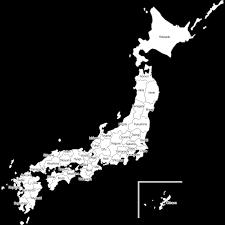 英語表記都道府県名入り日本地図のイラスト白地図 無料フリー