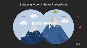 Slide Desigh Binocular View Slide Design For Powerpoint