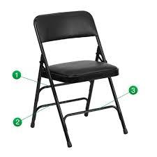 vinyl folding chairs. Flash Furniture Hercules Series Curved Triple Braced \u0026 Double Hinged Black Vinyl Upholstered Metal Folding Chair Chairs Q