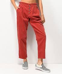 Unionbay Size Chart Unionbay High Rise Red Corduroy Pants