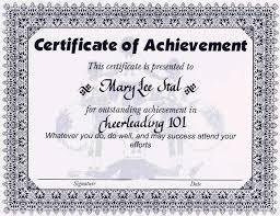 Enchanting Achievement Award Certificate Template Component