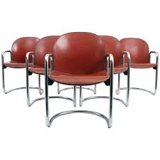sale leather dining chairs. six afra and tobia scarpa 1974 dialogo leather dining chairs for b sale