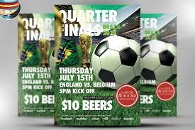 soccer flyer template flyer templates on creative market