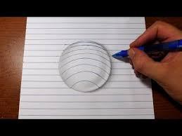how to draw 3d art line paper trick this is easy and fun to do i start by drawing around a gl i then mark out where the lines will go and