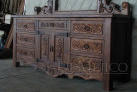 custom spanish style furniture. Spanish Style Dresser W/ Mirror Custom Furniture