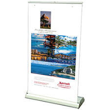 Small Table Display Stands Small Retractable Table Top Display 18