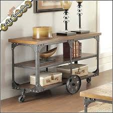 tv cart on wheels. 1pc Rustic Tv Stand Media Console Table Contemporary Antique Cart With Wheels On