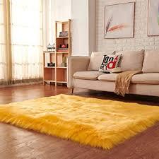 Super Soft Faux Fur Rug, Modern Area Rug Fluffy Anti-Skid Shaggy ...