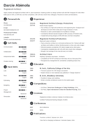 Architecture Resume Sample And Complete Guide 20 Examples Free