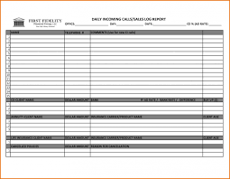 Sales Call List Punch List Templates Sales Call Log Template Templates