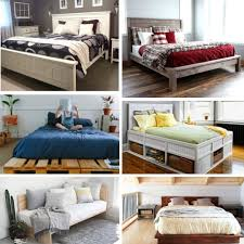Homemade Wooden Bed Designs 61 Diy Bed Frame Ideas Updated For 2019