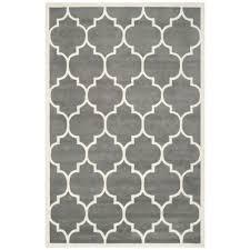 safavieh ham dark grey and ivory area rug