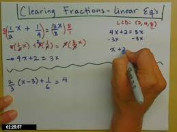 linear equations with fractions