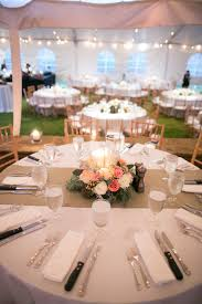 peach and pink fl burlap reception decor krista s wedding better round table centerpieces staggering 5