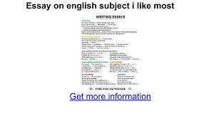 essay on english subject i like most google docs