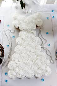Wedding Dress Pull Apart Cake Cupcake pull apart wedding dress