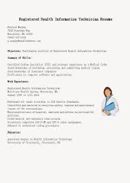 Great Sample Resume Resume Samples Registered Health