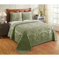 cotton tufted chenille bedspread set ss
