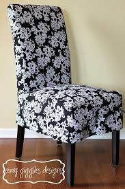 modern slipcovers for dining chairs best of black and white baroque parsons chair slipcover