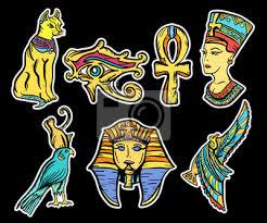 Fototapeta Starověký Egypt Tetování Staré školy Starověký Egypt Ručně