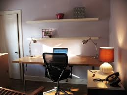 office furniture ideas decorating. Small Office Ideas Decorated With Modern Furniture Using Wooden Computer Desk And Simple Wall Shelving Decorating L