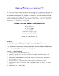Sample Resume Electrical Maintenance Supervisor New Cover Letter