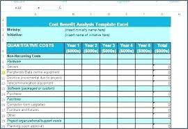 Cost Benefit Analysis Template For It Project Excel In Simple ...