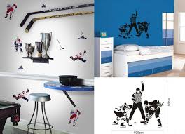 hockey wall decal hockey themed bedroom design