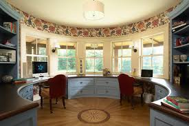 bay window desk home office modern. Built In Desk Home Office Victorian With Circular Room Bay Window Modern D
