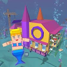 mermaid craft princess house design games free games online