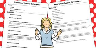Experienced Teacher Cv Template - Teacher, Template, Experience