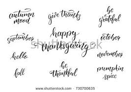 Quotes About Thanksgiving Adorable Thanksgiving Day Calligraphy Quotes Thanksgiving Day Stock Vector