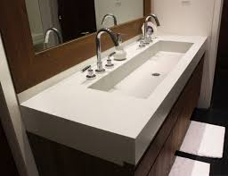 bathroom with two faucets decorating sinks awesome undermount trough sink 36