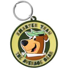 dels about yogi bear pvc keyring hanna barbera tv cartoon retro funky gift for him or her