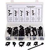 amazon com 100pcs wire loom routing split conduit clips retainer Wiring Harness Diagram 54 x wiring harness wire loom routing clips assortment convoluted conduit for gm