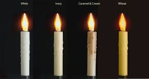 image of wax candle sleeves for electric candles