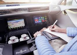 Auto Mobile Office Driverless Vehicle Becomes Office In Xchange Concept Car By