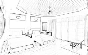 drawn bedroom basic interior design  pencil and in color drawn