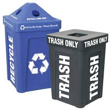 the original 48 gallon recycling container now with matching trash bin