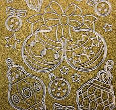 Glitzer Glimmer Sticker Nr7072 Gold Silber Christbaumschmuck Weihnachtskugeln