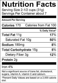 Fishers Popcorn Ocean City Maryland Nutritional Info