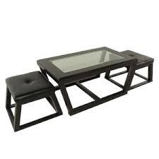 unique coffee tables furniture. Kelton Wood And Glass Coffee Table In Black With T. Unique Tables Furniture O