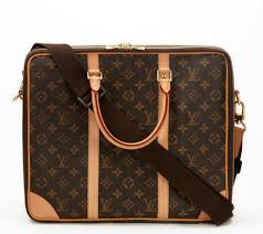 louis vuitton laptop bag. brown classic monogram canvas cupertino laptop bag 2011 louis vuitton