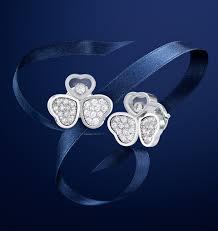 Украшения Chopard®   <b>Золотые серьги</b> с бриллиантами