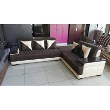 cream color 5 seater designer sofa set